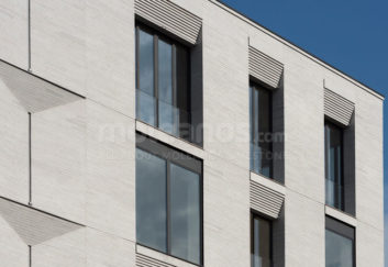 Grey limestone cladding - Moscow