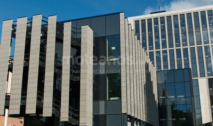 Krasina Business Center limestone cladding