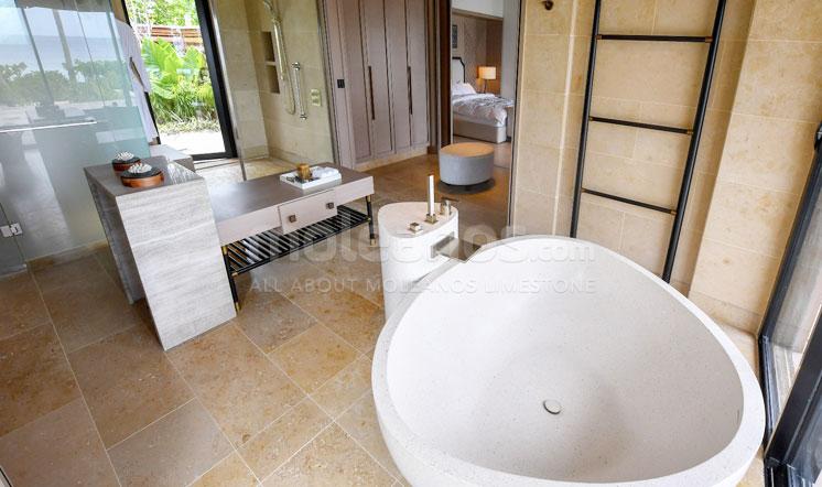 Jura Beige limestone bath design